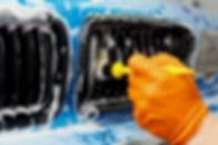 Detailed vehicle cleaning to washing_edi