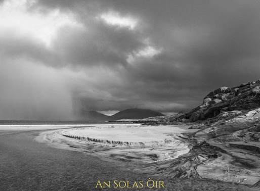 Luskentyre with hail