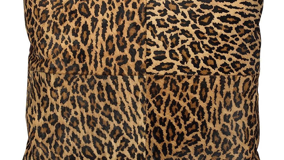 """HIDE PILLOW-Leopard 24"""""""