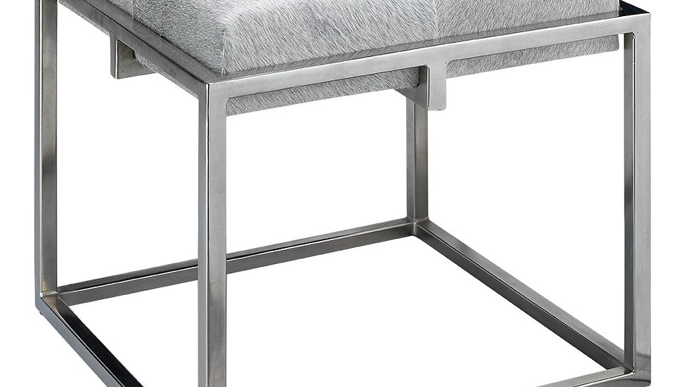 SHELBY STOOL-Grey/Nickle/Small