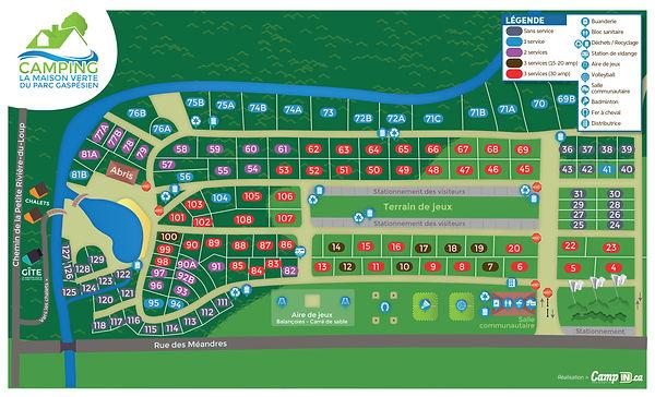 plan camping maison verte gaspesie