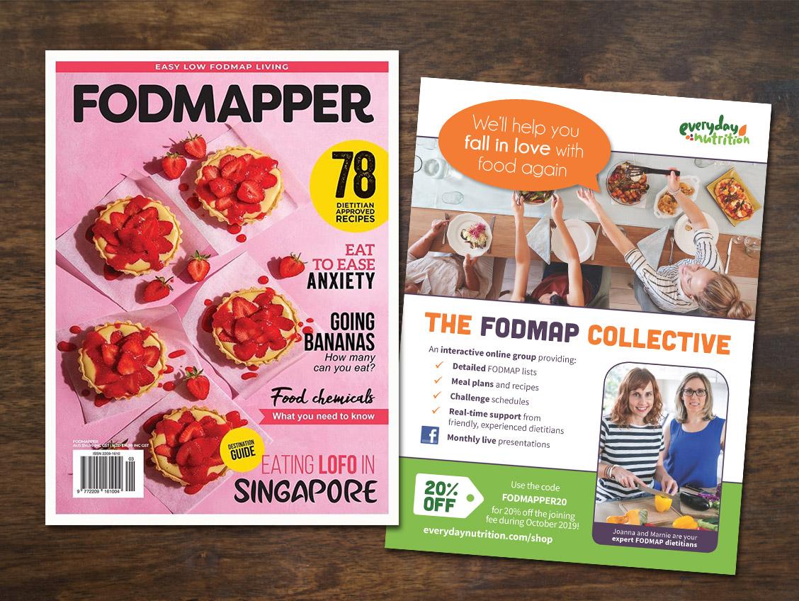 Print ad, FODMAPPER magazine