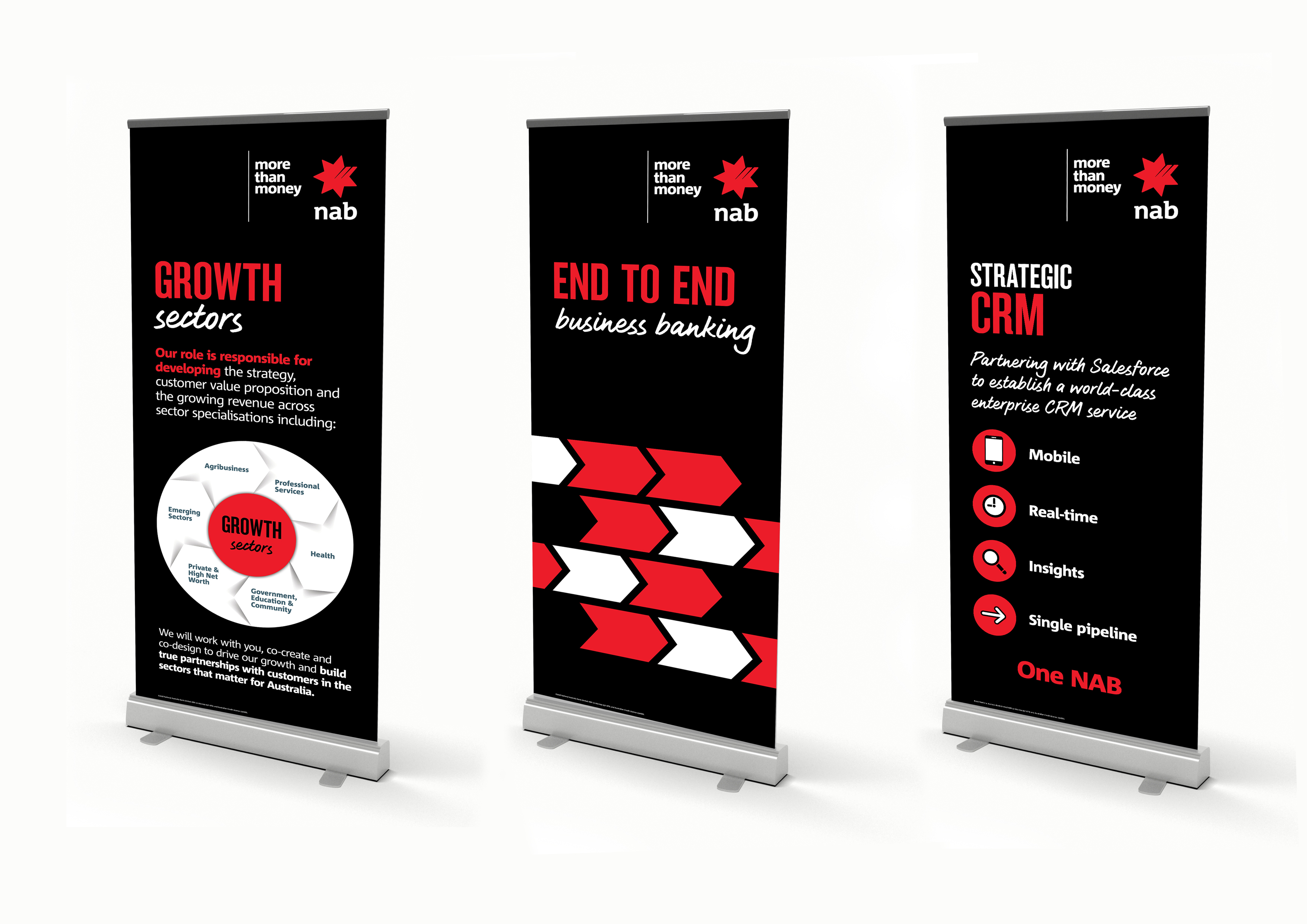 Assorted pull up banners