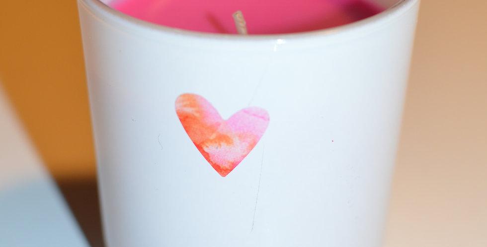 With Love au parfum de rose, bougie cire rouge