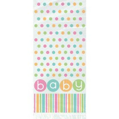 Cello Bag Baby Dots 20Ct