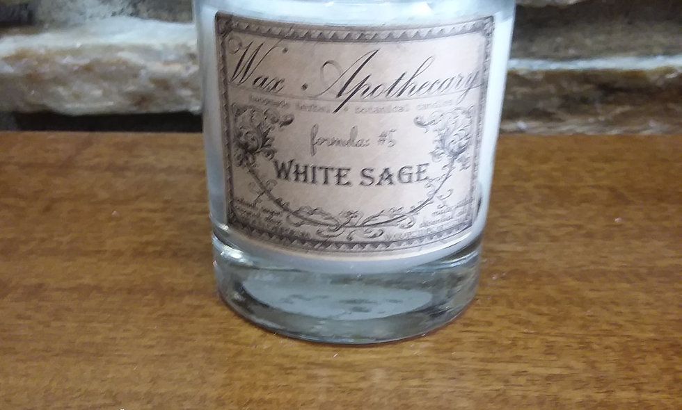 White Sage Coconut Wax Vegan Candle