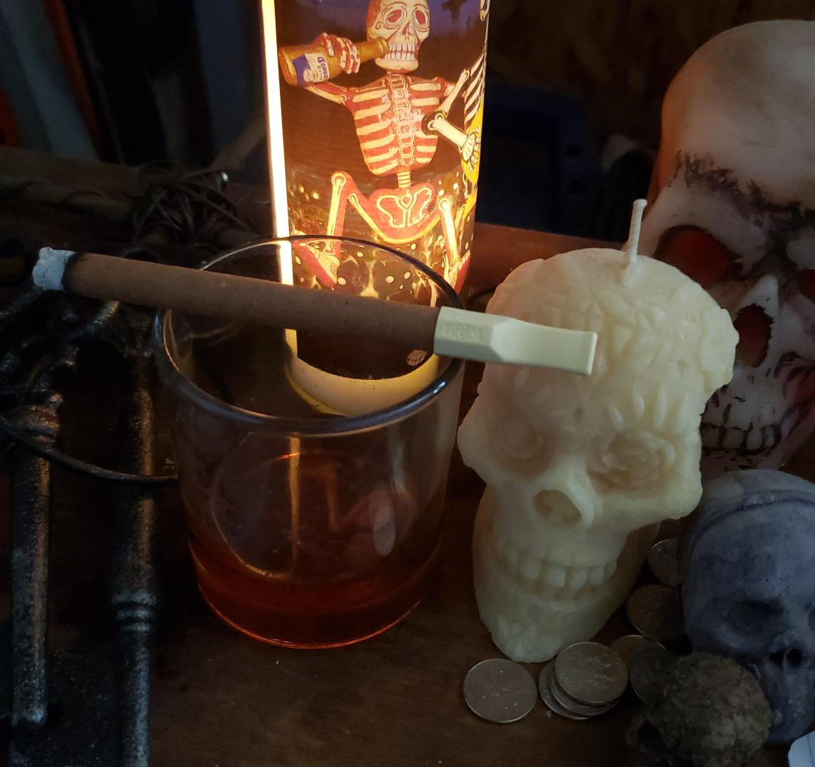 Cigar at the Altar of the Baron