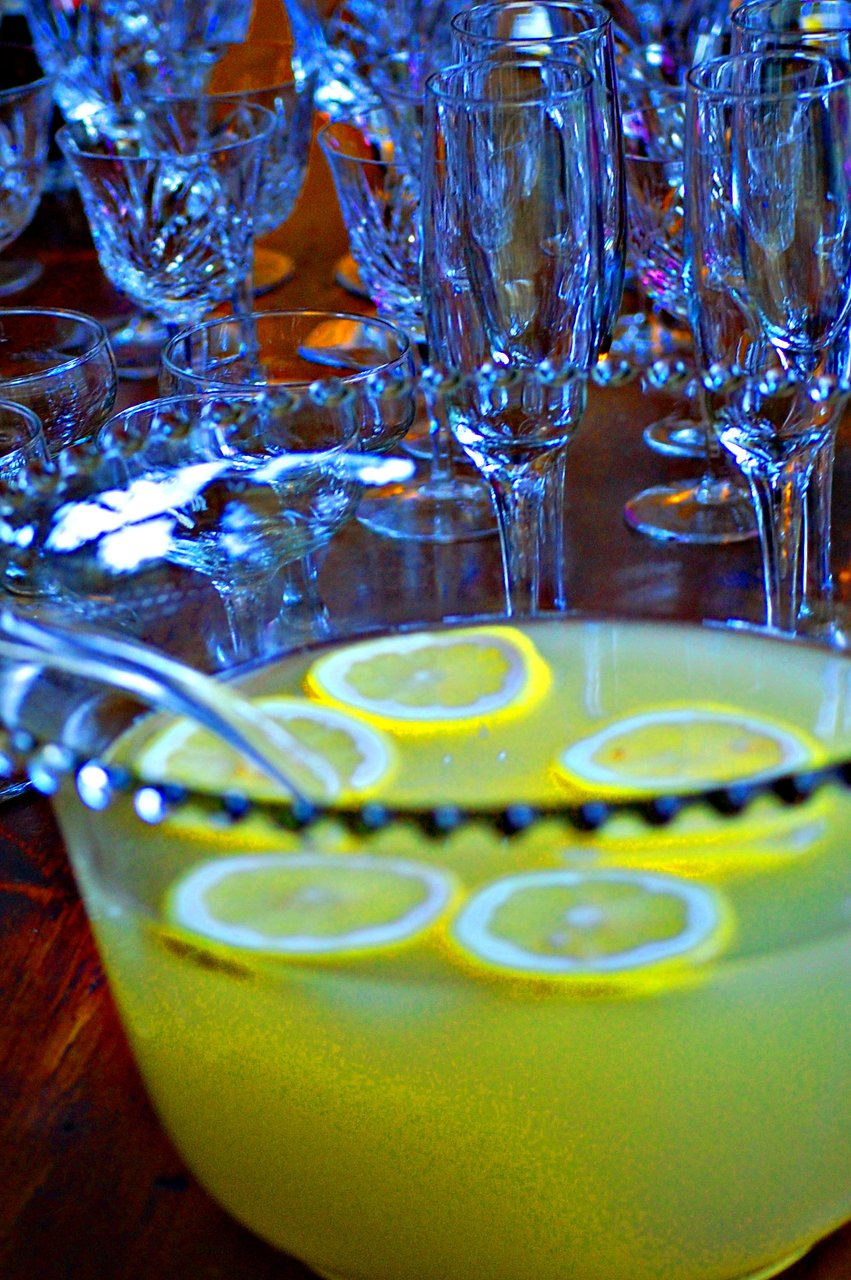 Lemonade and glasses