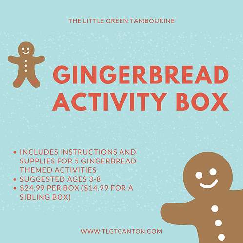 Gingerbread Activity Box - Sibling Box
