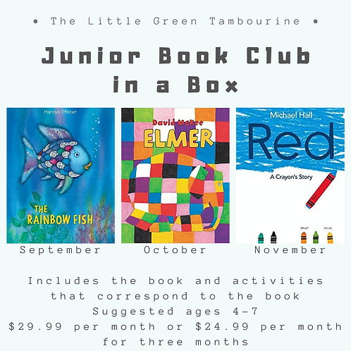Junior Book Club Box - 3 month subscription