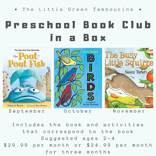 Preschool Book Club Box - 3 month subscription