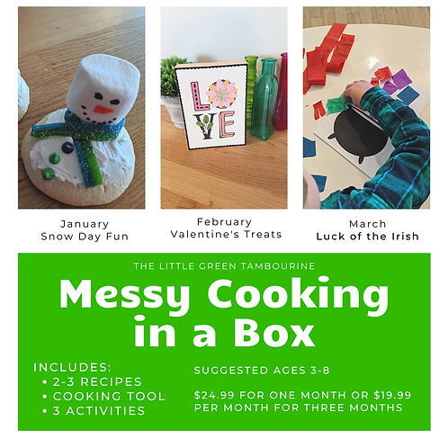 Messy Cooking in a Box - 3 month subscription
