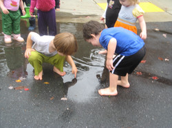 Exploring the puddle