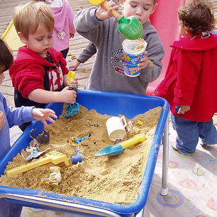 sand table at Gan Gurim Hebrew day care