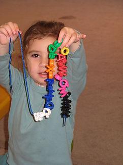 Lacing at Gan Gurim, Hebrew preschool in Rockville MD