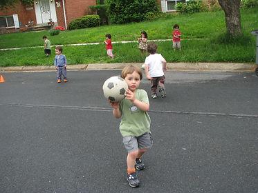 Playing at Gan Gurim, Israeli pre school in Rockville MD