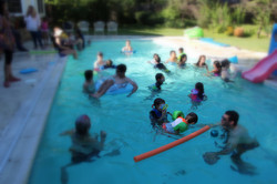 End of year pool party