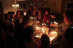 Celebrating Hanukkah together