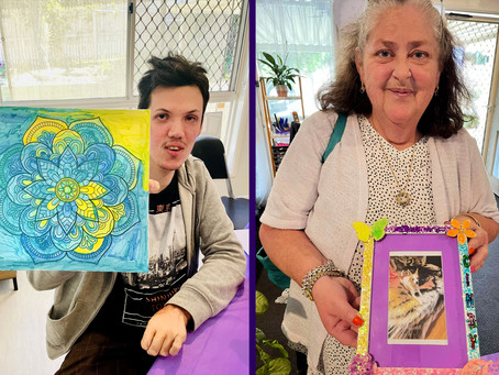 Our Art Therapy class attendance is growing!