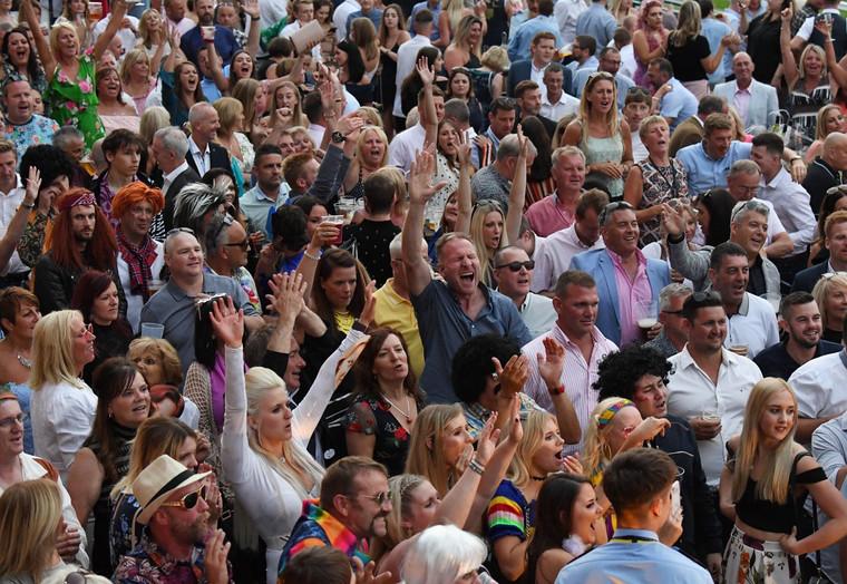 crowd enjoying the show