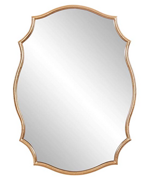Gold Ornate Accent Wall Mirror