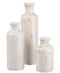 Creamy White and Distressed Vases perfect to lighten up any space!