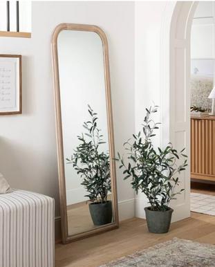 Wood Framed Full Length Mirror