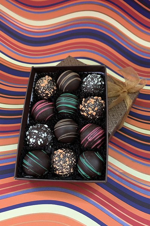 Mixed all dark mini truffles
