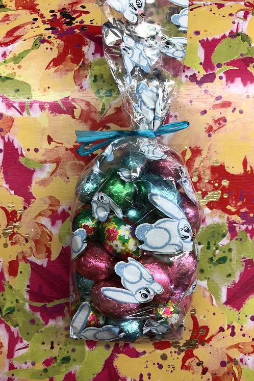 1/2 lb. milk foiled egg gift bag