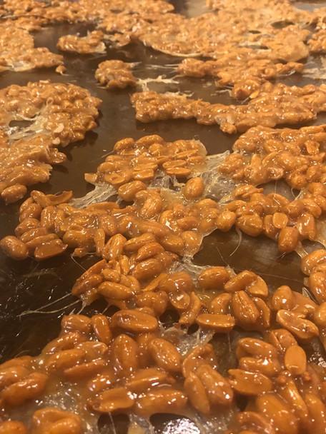 Fresh batch of peanut brittle