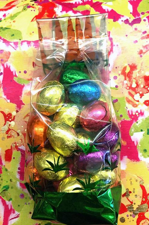 1/2 lb. dark chocolate egg gift bag