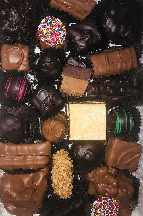 Milk and dark chocolate assortment