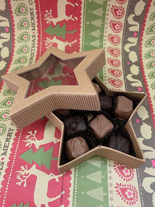 Chocolate and Vanilla Caramels Star Box