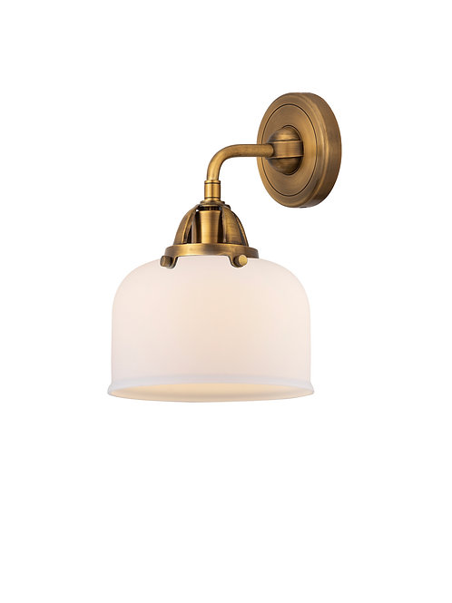 One Light Wall Sconce in Brushed Brass