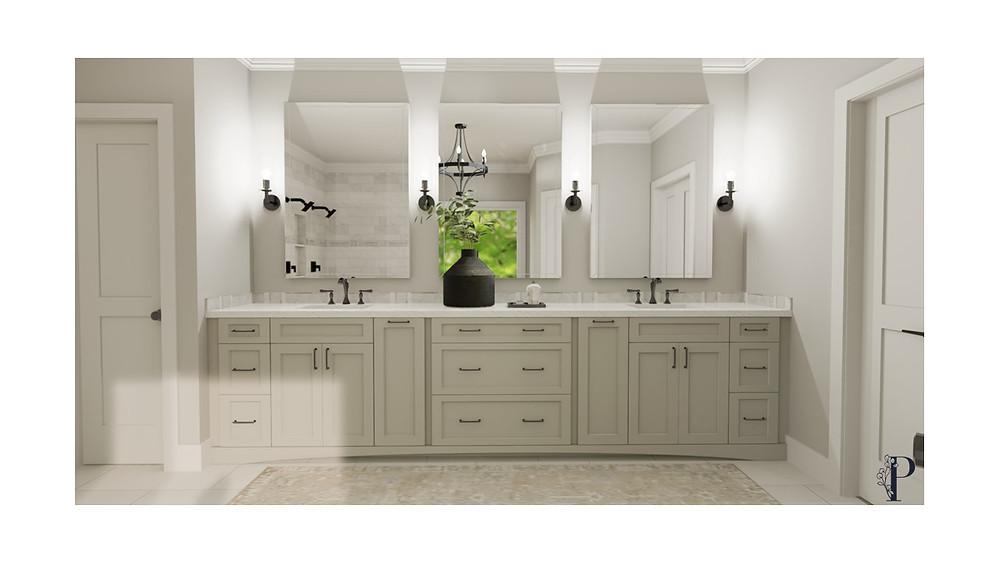 3D Bathroom Design Rendering