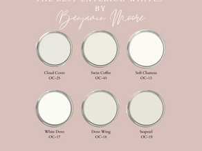 The Best Exterior Whites by Benjamin Moore