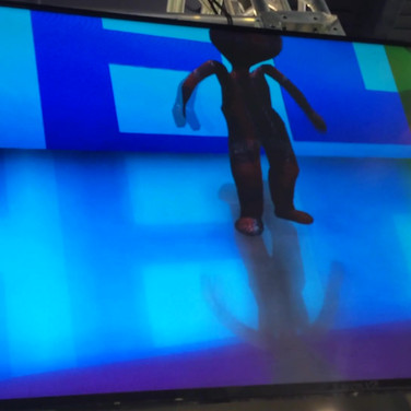 Live markerless motion capture animating characters in real time.
