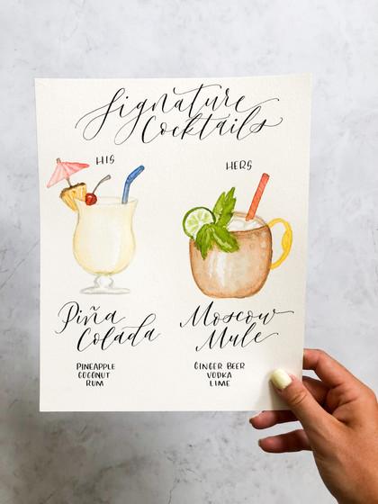 Watercolor Signature Cocktail
