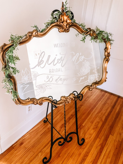 Calligraphy Mirror Welcome Sign