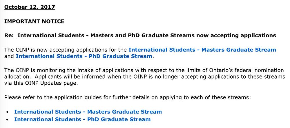 OINP Program Update