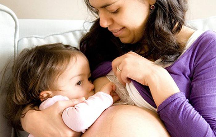 Грудне вигодовування під час вагітності