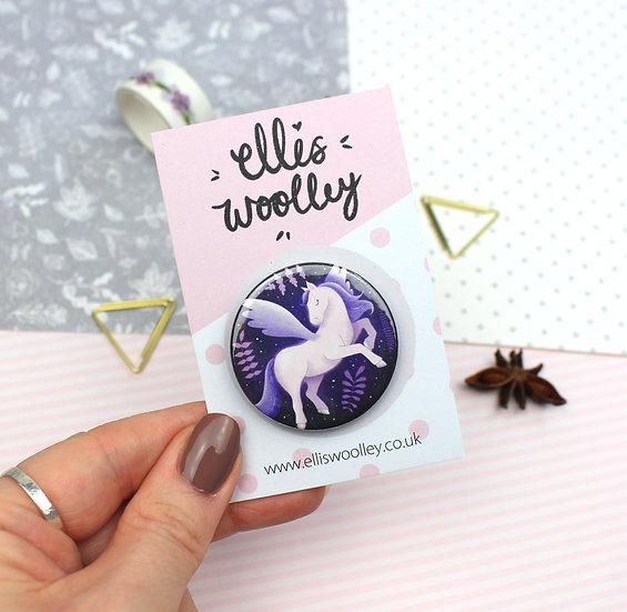 Celestial Unicorn Button Badge