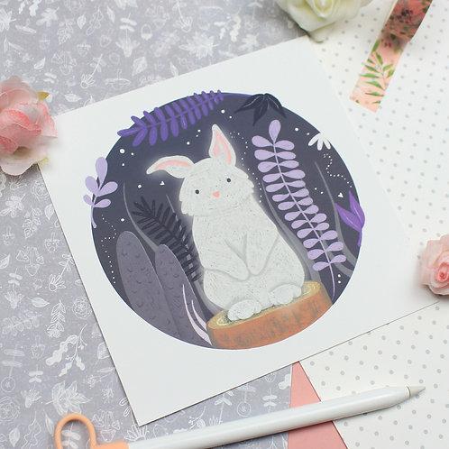 Midnight Rabbit Print