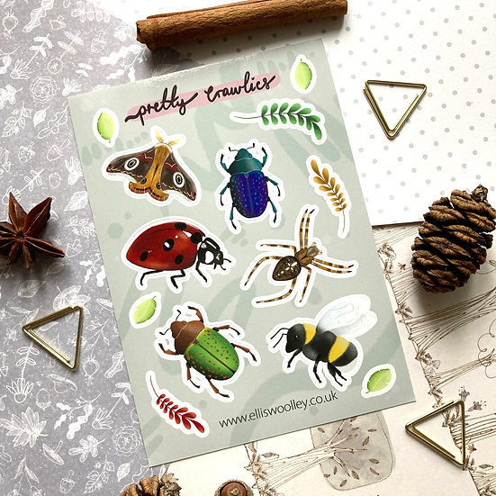 Pretty Crawlies Sticker Sheet
