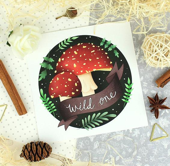 Toadstools 'Wild One' Art Print