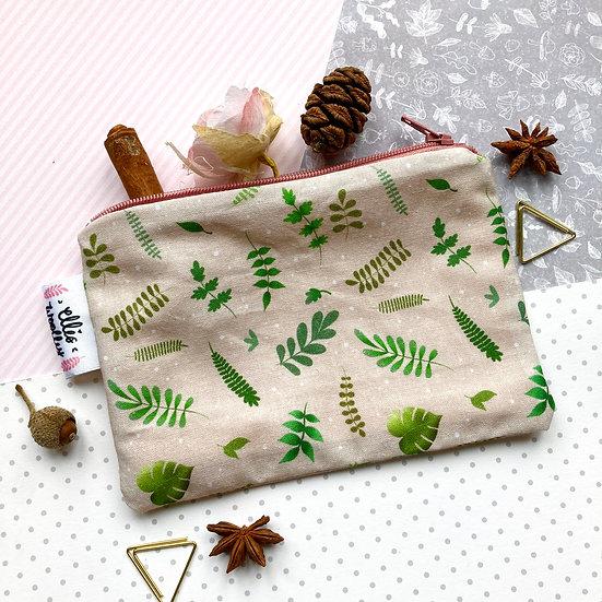 Mini Handmade Pouch - Plants Design