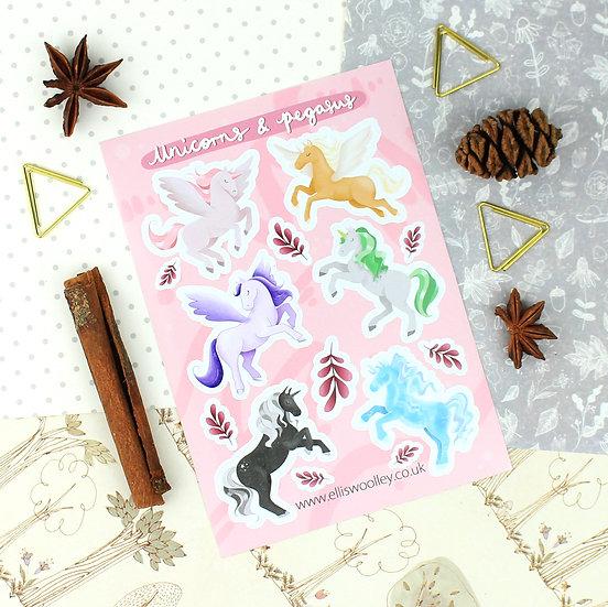 Unicorns Sticker Sheet