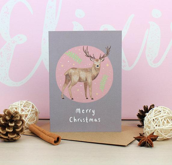 Stag Christmas Card
