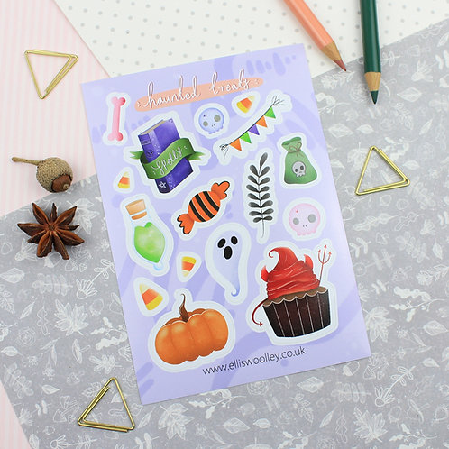 Haunted Treats Sticker Sheet