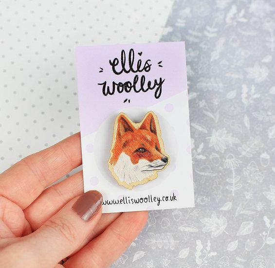 Fox Wooden Pin
